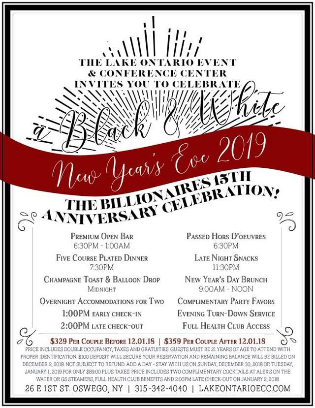 black white new years eve celebration monday december 31 2018 6pm 1145pm community