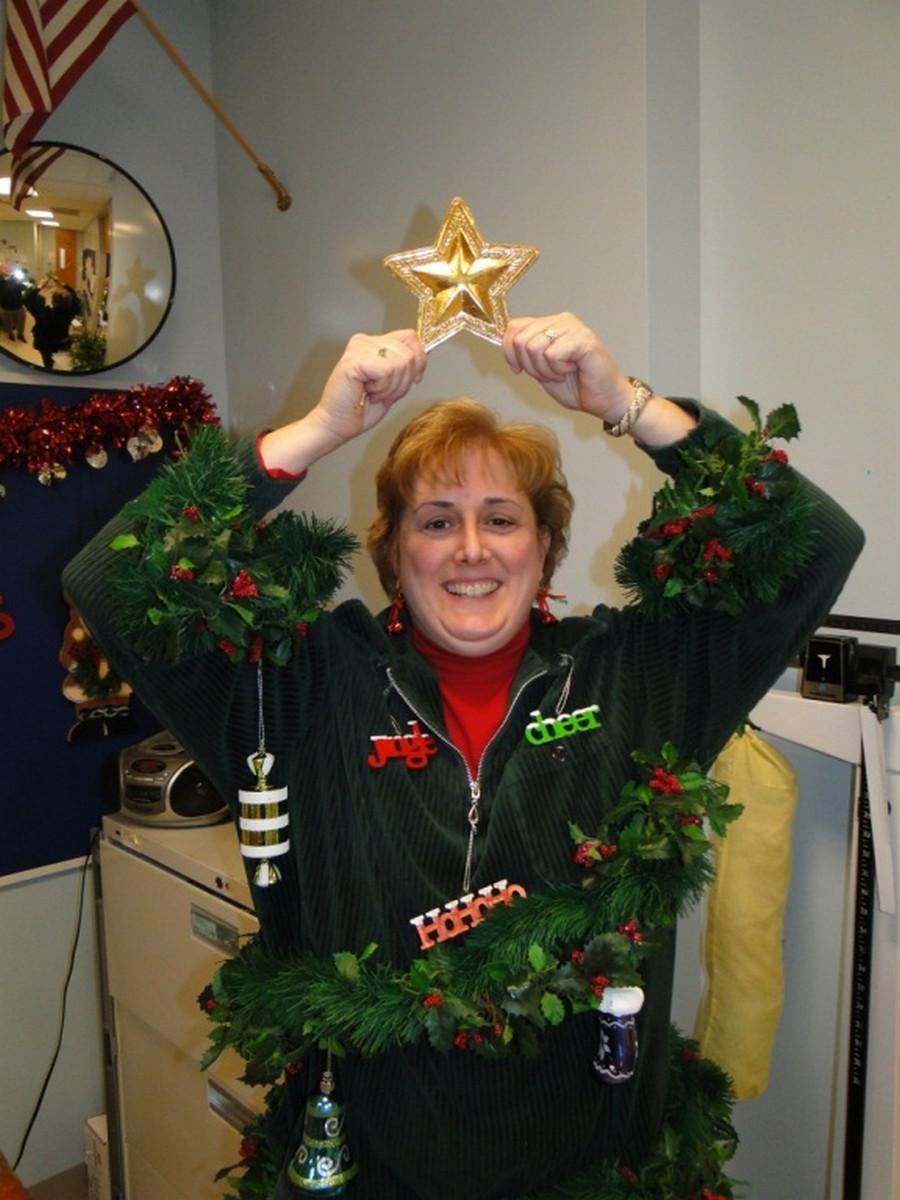 Walking Christmas Tree Part - 19: Oswego Middle School Home And Career Skills Teacher, Sarah Rector.