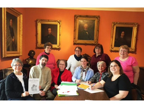 Pictured from left to right are 2018 Silent Auction committee members, seated are Eva Corradino, Justin White, Mark Kay Stone, Jennifer Mays, Charlene Mitchell and Jennifer Bertollini, standing are Mary Shanley, Peg McKinstry, Carol Shannon and Lyn Patterson.