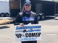 Lighthouse Lanes Presents Oswego Speedway's 'Up and Comer' Award in 2019