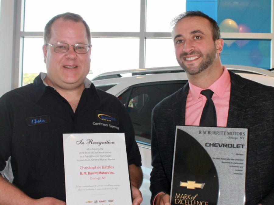 I heart oswego burritt motors wins 2 gm 2016 mark of for Burritt motors oswego ny