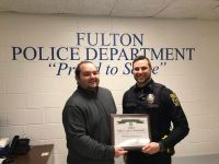 Oswego County Traffic Safety Board Recognizes 2018 Fulton Traffic Safety Champion