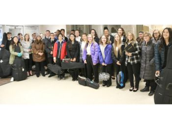 OHS students participate in the recent New York State School Music Association's Zone 4 Area All-State Music Festival.
